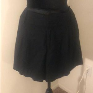 Banana Republic Black Wool Shorts